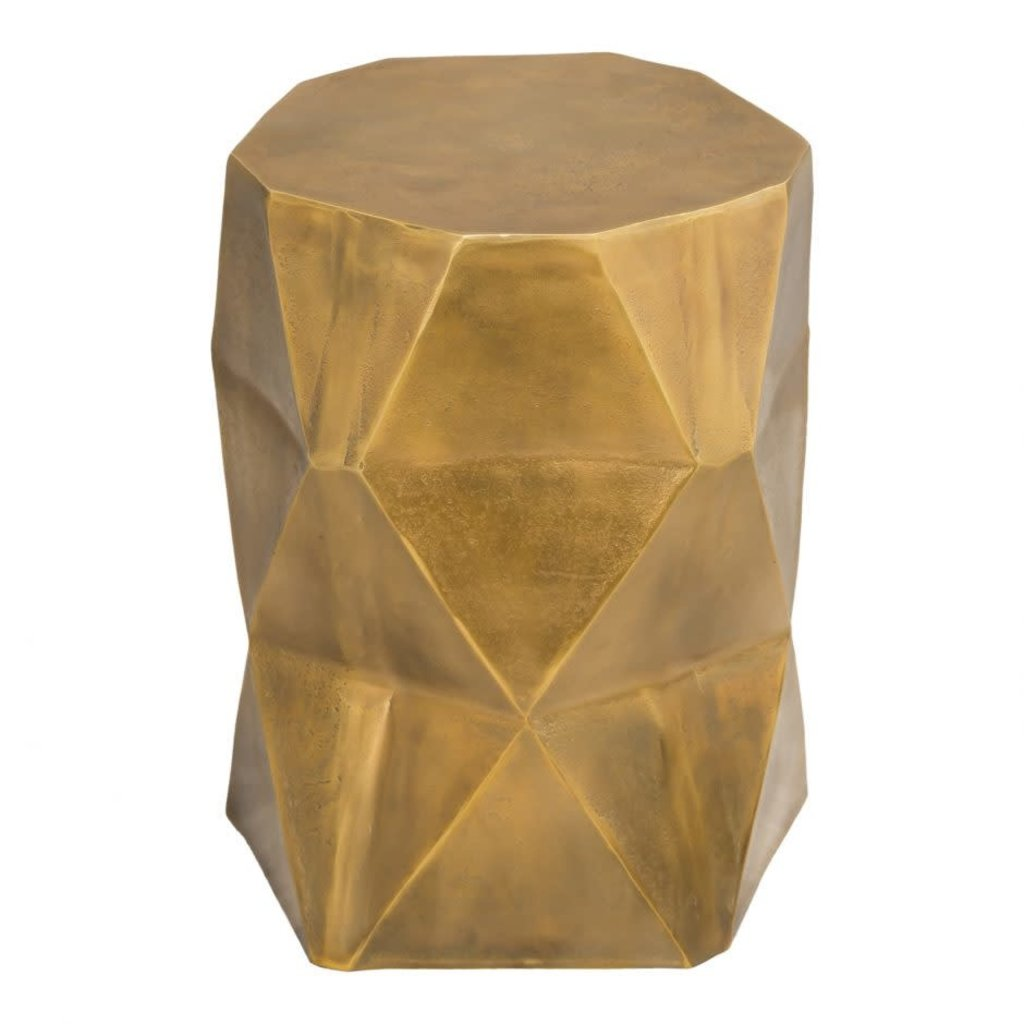 Moe's Home Collection Quintus Accent Table Antique Brass