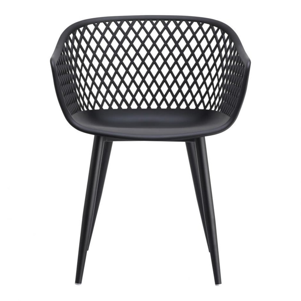 Moe's Home Collection Piazza Outdoor Chair Black-M2