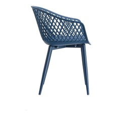 Moe's Home Collection Piazza Outdoor Chair Blue-M2