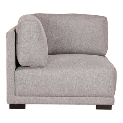 Moe's Home Collection Romeo Corner Chair Grey