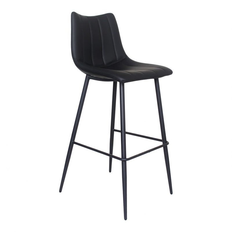 Moe's Home Collection Alibi Barstool Matte Black-M2