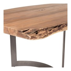 Moe's Home Collection Bent Dining Table Small Smoked