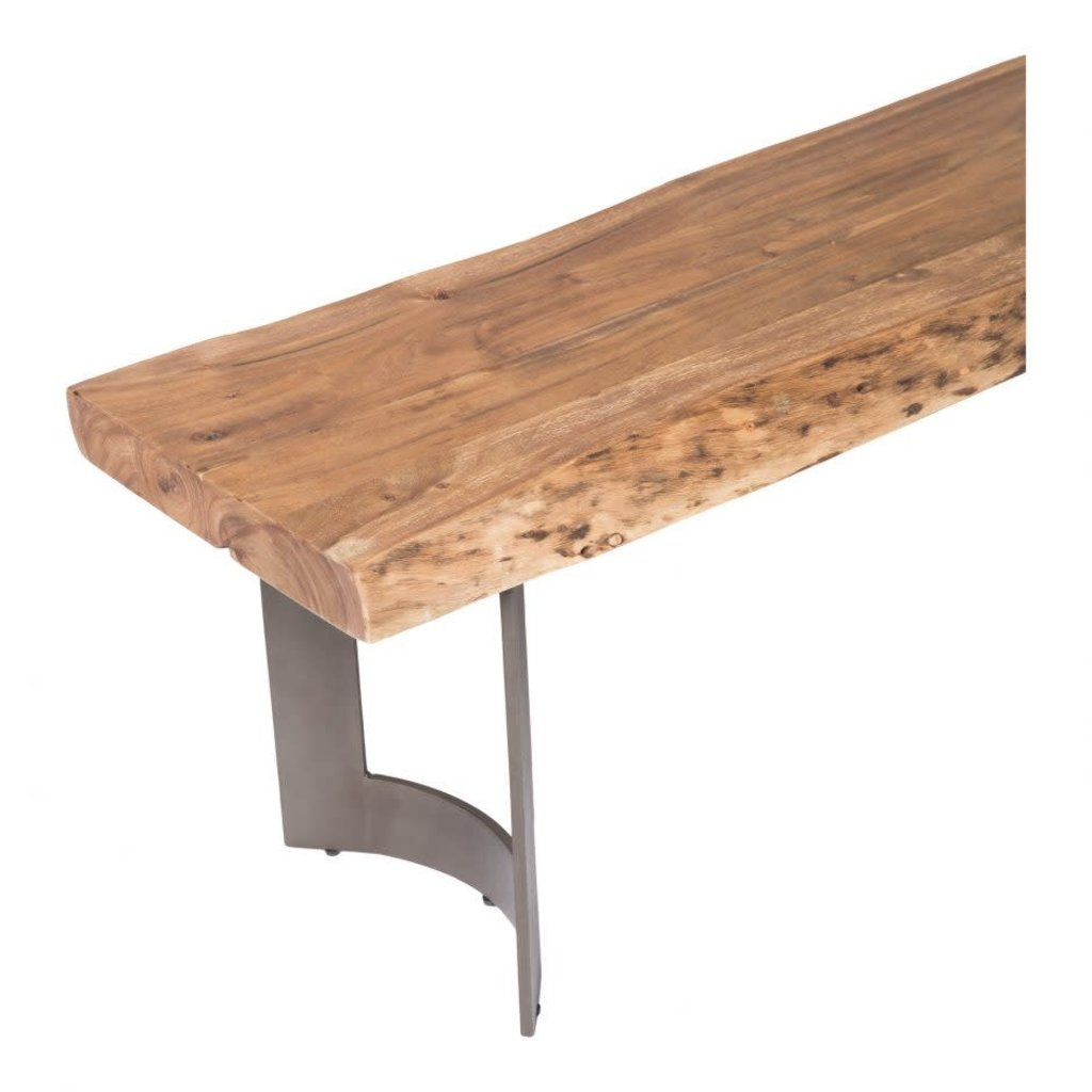 Moe's Home Collection Bent Bench Small Smoked