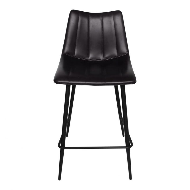 Moe's Home Collection Alibi Counter Stool Matte Black-M2