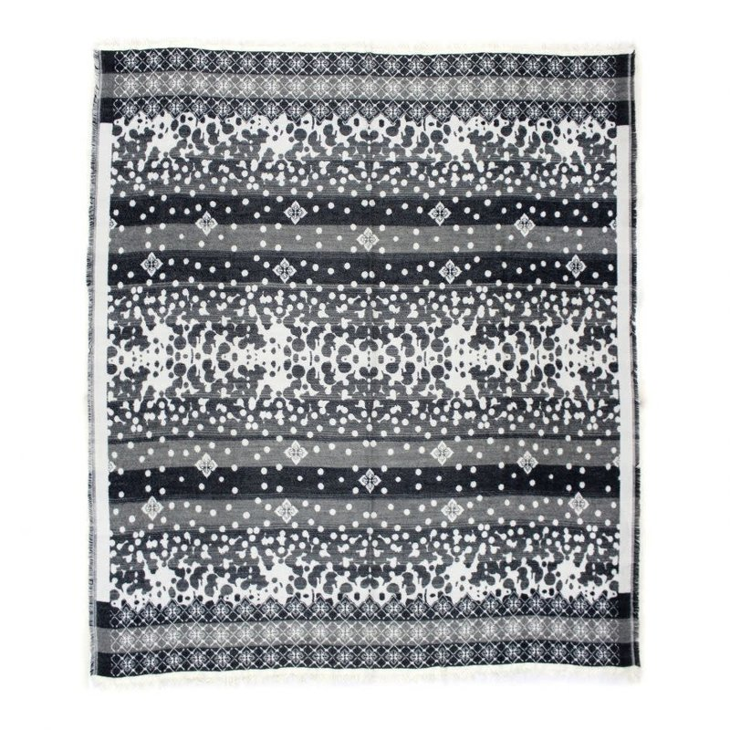 Moe's Home Collection Allfresco Throw Light Grey