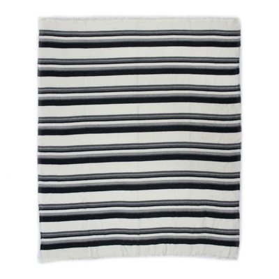 Moe's Home Collection Allfresco Throw Blue Stripes