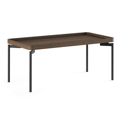 BDI Radius Toasted Walnut Rectangle Coffee Table