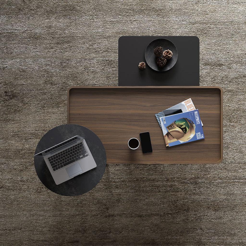 BDI Radius Toasted Walnut Rectangle Coffee Table