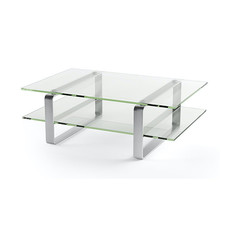 BDI Stream Clear Glass Sm Rect Coffee Table