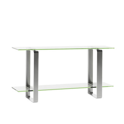 BDI Stream Clear Glass Console Table