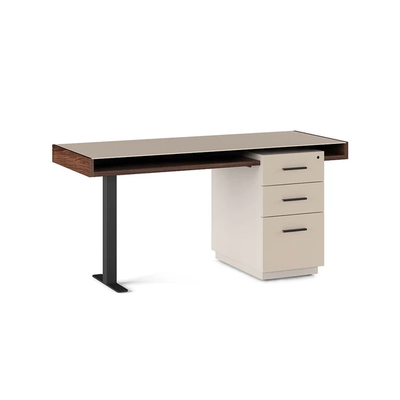 BDI Duo Toffee /Taupe Pedestal Desk