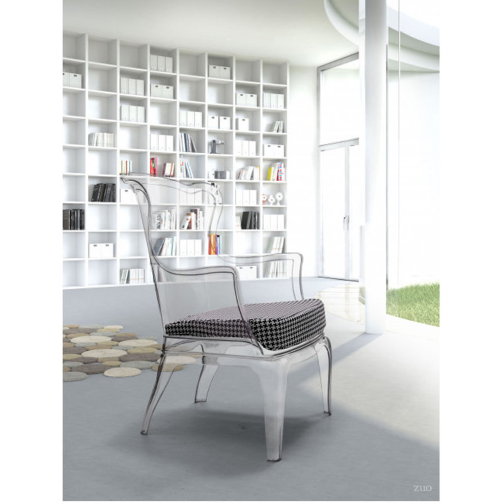 Zuo Modern Vision Occasional Chair Transparent