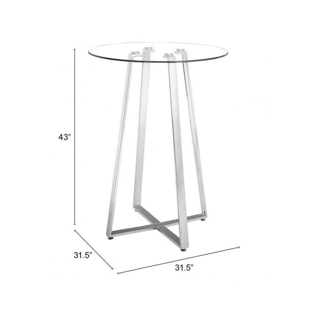 Zuo Modern Lemon Drop Bar Table Chrome