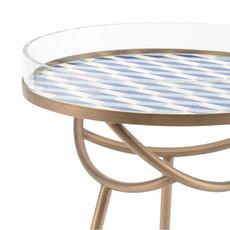 Zuo Modern Lattice Round Table Blue