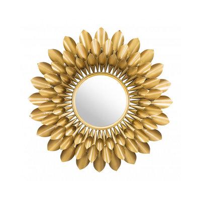 Zuo Modern Sunflower Round Mirror Gold