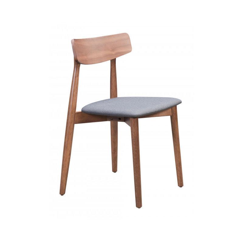 Zuo Modern Newman Dining Chair Walnut & Dark Gray