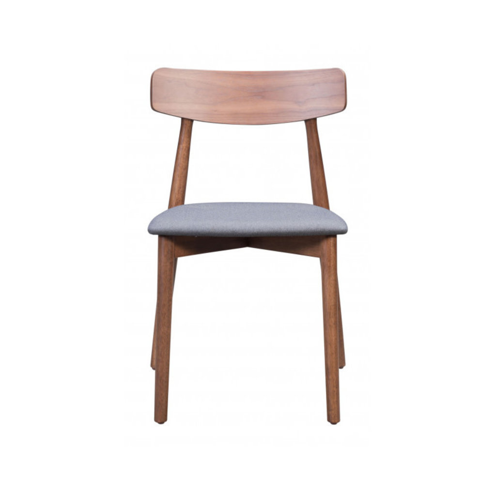 Zuo Modern Newman Dining Chair Walnut & Dark Gray