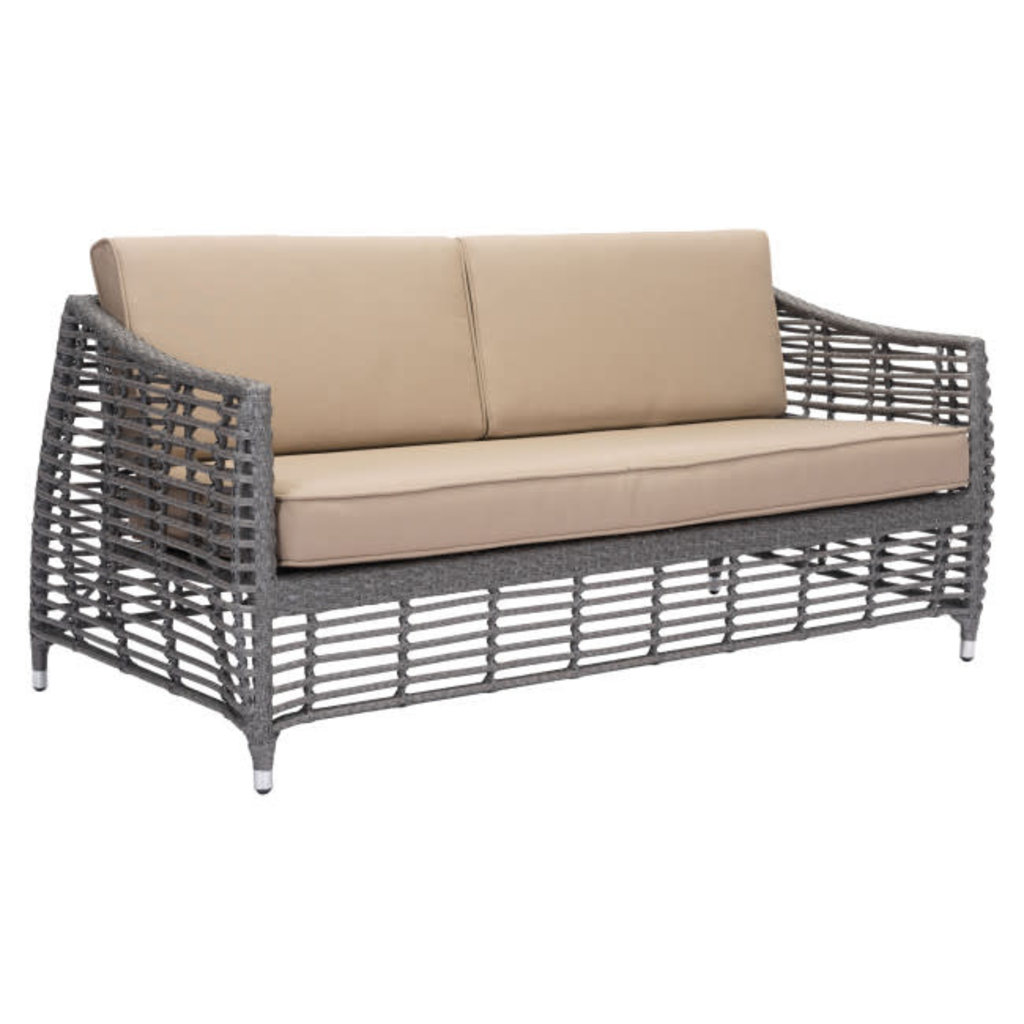 Zuo Modern Trek Beach Sofa Gray & Beige