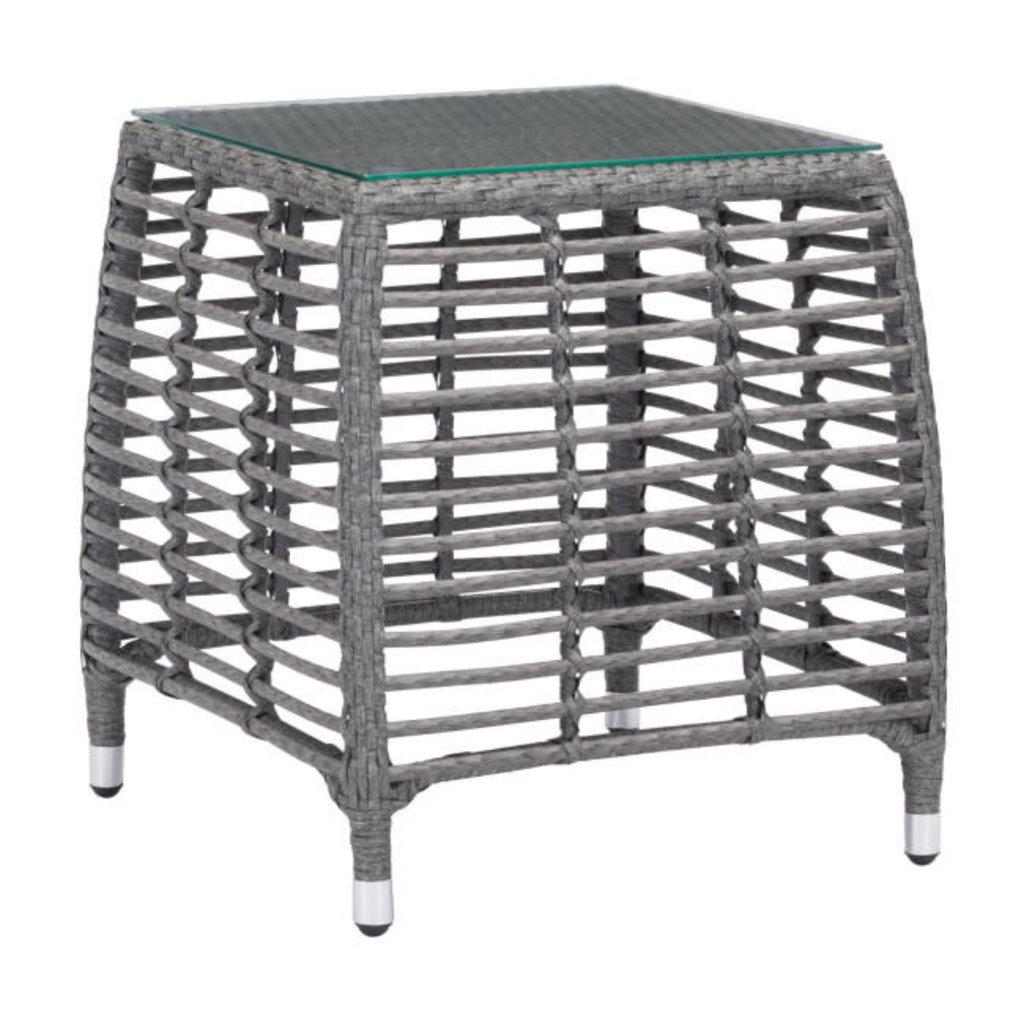 Zuo Modern Trek Beach Side Table Gray & Beige