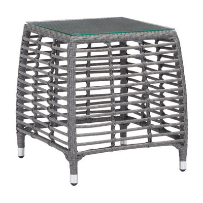 Zuo Modern Trek Beach Side Table Gray & Beige