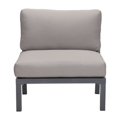 Zuo Modern Santorini Armless Chair Drk Gry & Gray