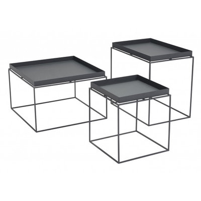 Zuo Modern Gaia Nesting Tables Black
