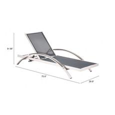 Zuo Modern Metropolitan Chaise Lounge B. Aluminum