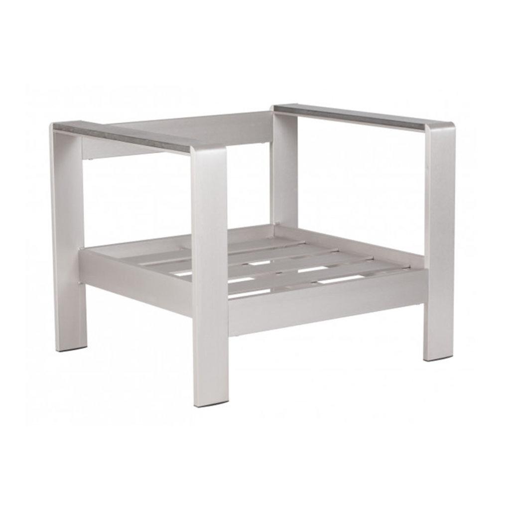 Zuo Modern Cosmopolitan Arm Chair Frame B. Aluminum