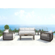 Zuo Modern Coronado Sofa Cocoa & Light Gray