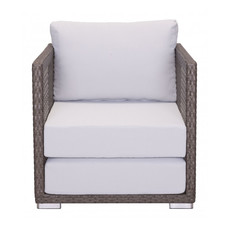 Zuo Modern Coronado Arm Chair Cocoa & Light Gray