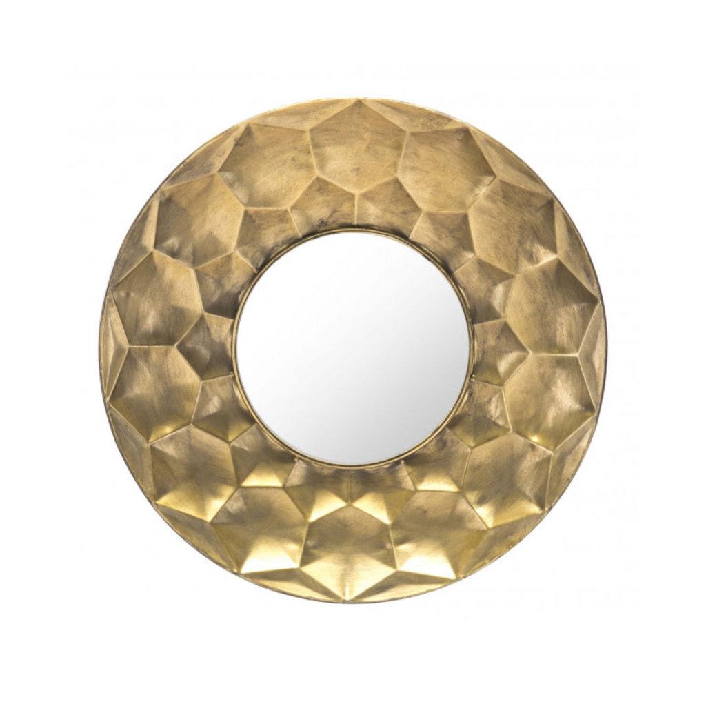 Zuo Modern Sei Round Mirror Gold