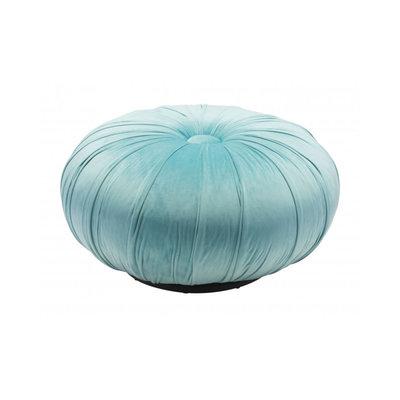 Zuo Modern Bund Ottoman Light Blue Velvet