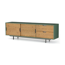 Four Hands Tucker Large Media Console-Sage Lacquer