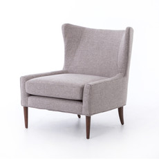 Four Hands Marlow Wing Chair-Chess Pewter