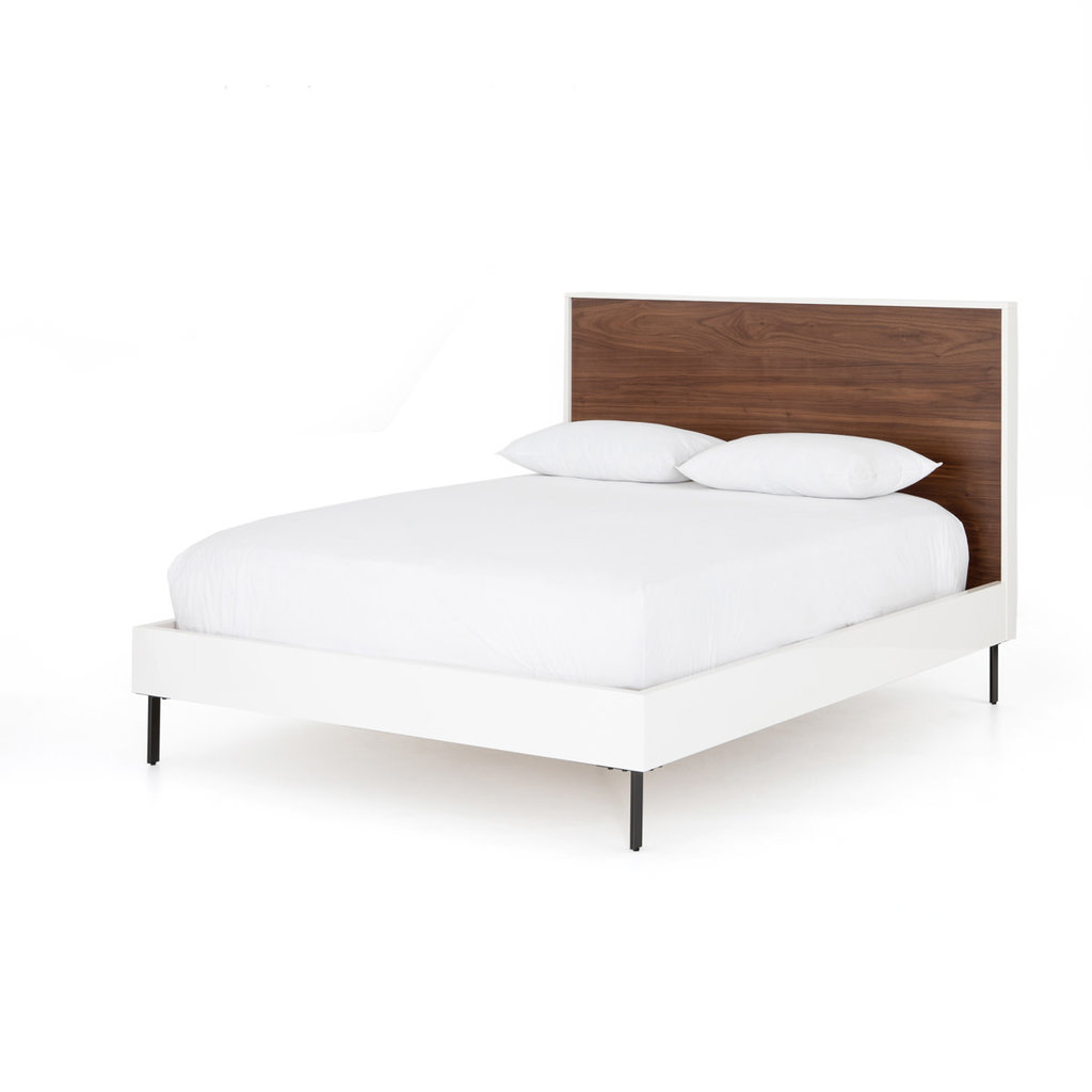 Four Hands Tucker Queen Bed-White