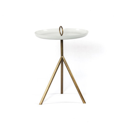 Four Hands Alora End Table-Antique Brass