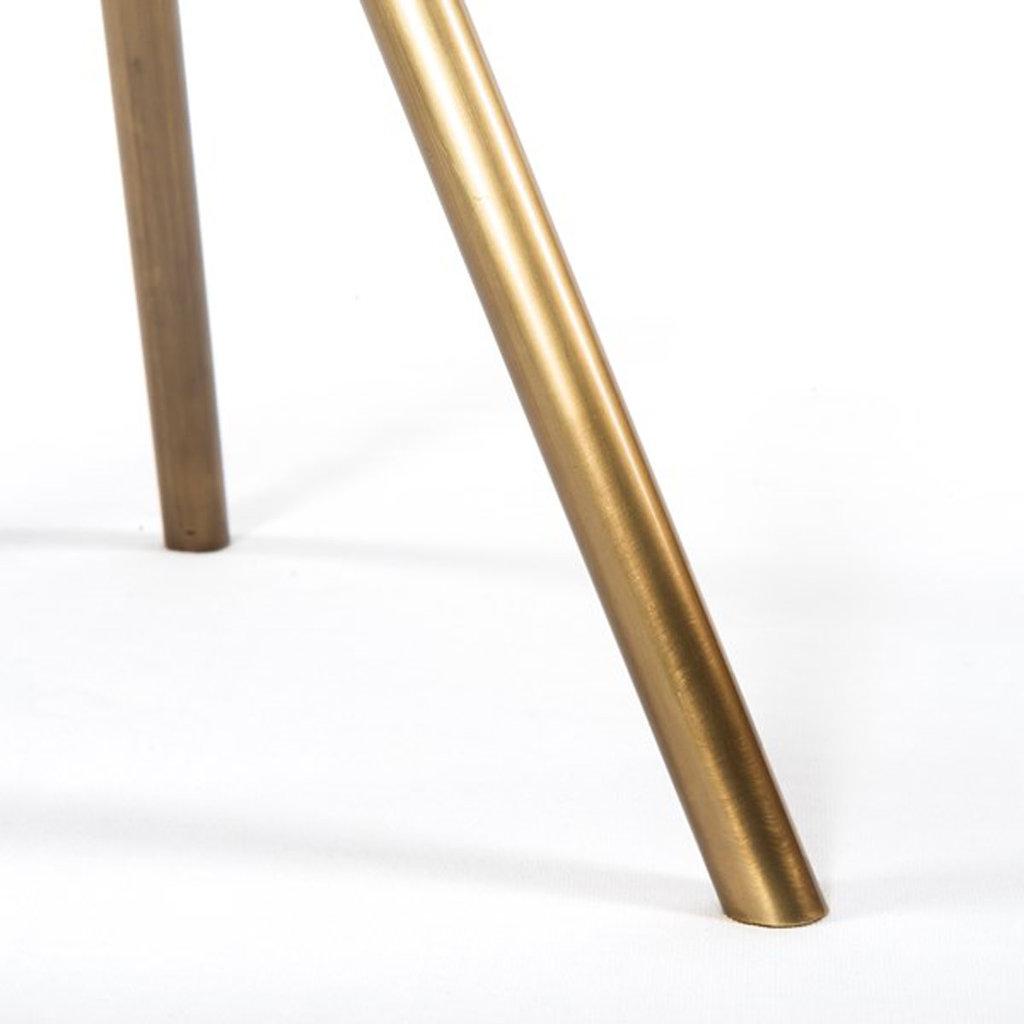 Four Hands Alora End Table-Antique Brass