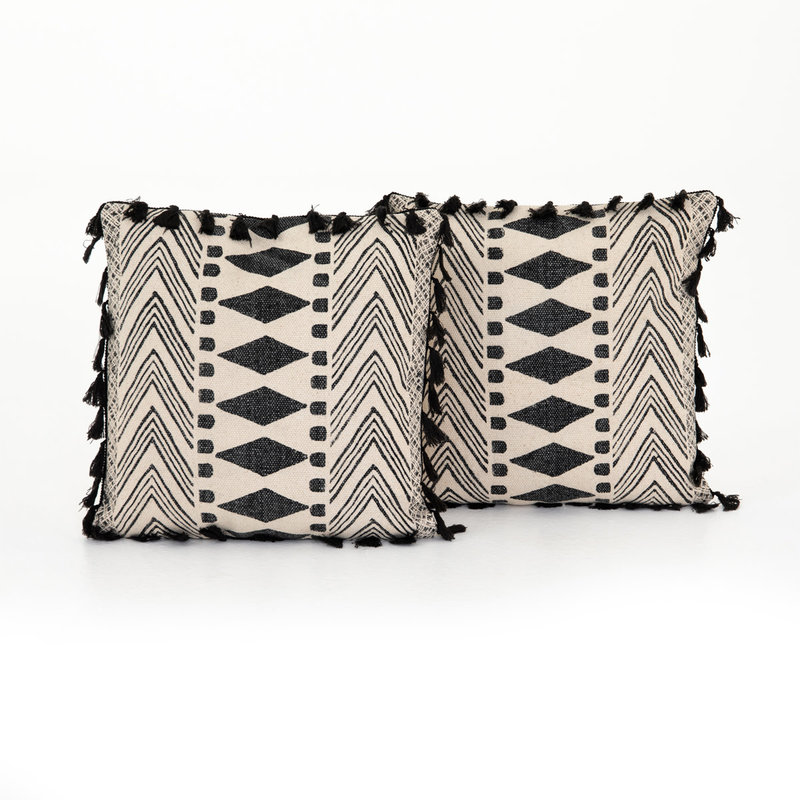 Four Hands Faded Block Print Pillow, Set of 2