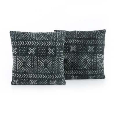 Four Hands Mud Cloth Print Pillow, Set of 2