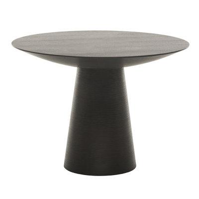 "Nuevo Living Dania 61"" Dining Table Black Top Wood Oak"