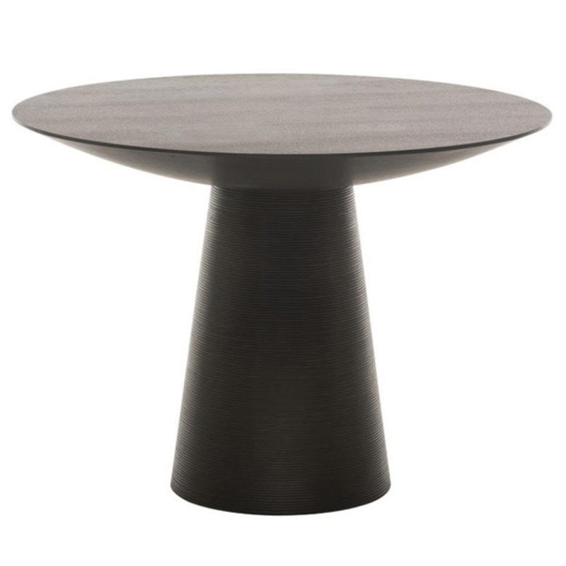"Nuevo Living Dania  Dining Table  47"" Ebonized Oak"