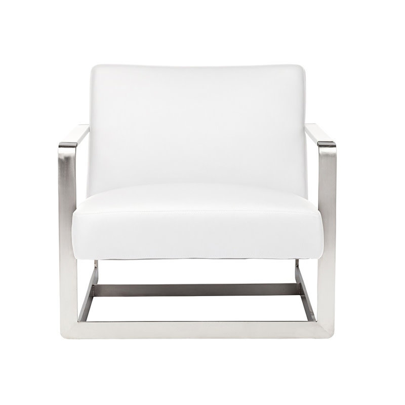 Nuevo Living Suza Chair Occasional White Naugahyde