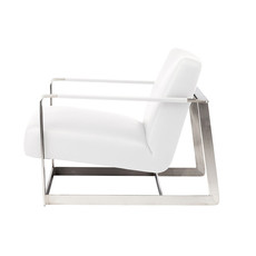 Nuevo Living Suza Chair Occasional White Naugahyde