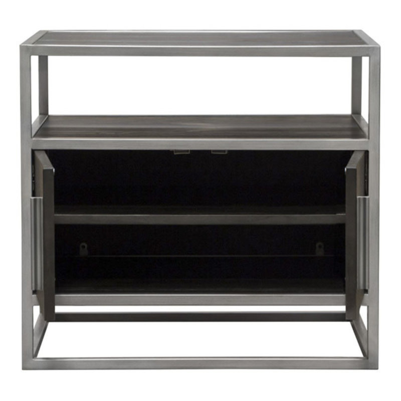 Diamond Sofa Empire Nightstands Silver Frame
