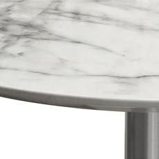 Diamond Sofa Stella Dining Table Brushed silver