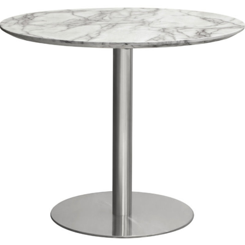 Diamond Sofa Stella Bistro Table Brushed silver