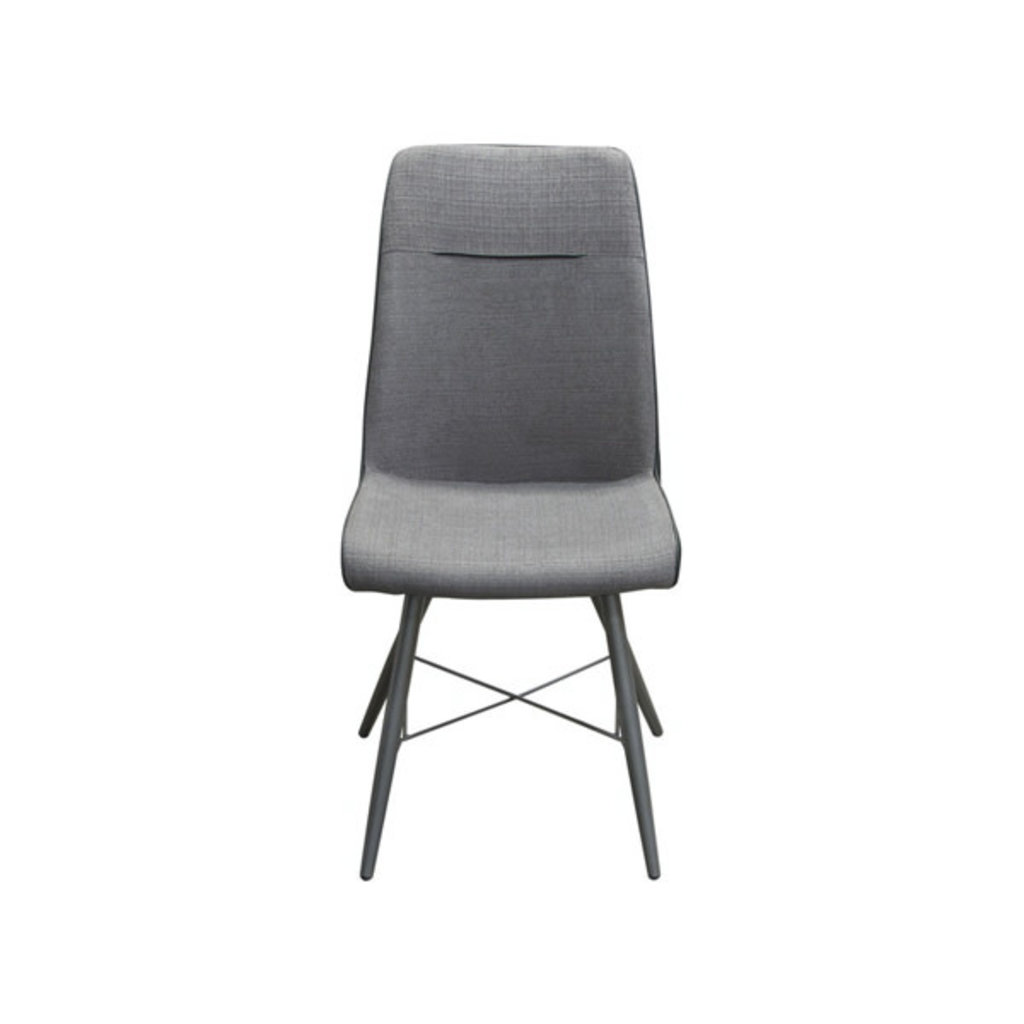 Diamond Sofa Chloe Grey Fabric/Black PU Dining Chair