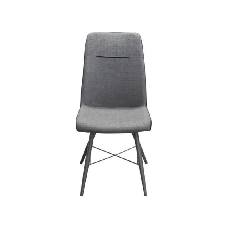 Diamond Sofa Chloe Grey Fabric/Black PU Dining Chair