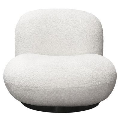 Diamond Sofa Simone Swivel Chair White Sheepskin
