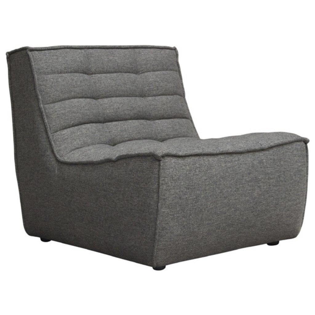 Diamond Sofa Marshall Armless Chair Grey Fabric